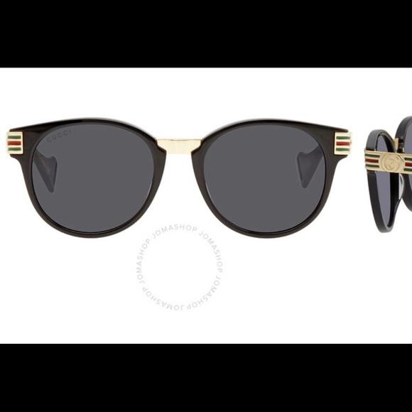 Gucci  Grey Round 50mm Sunglasses GG0586S-001